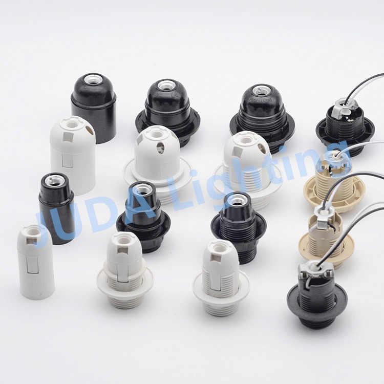 led candelabro baquelita accesorios soporte de plástico para luz E14 de de Soporte cable para lámpara E27 con lámpara bombilla lámpara de de base DbeWE9IYH2