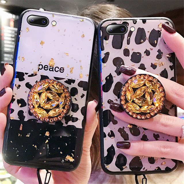 finest selection dbe3d 67393 US $2.99  Luxury Leopard Skin Glitter Rhinestone Plush Lanyard Case For  Samsung Galaxy S10 Plus S8 S8plus S9 S9plus Note 8 9 Fashion Case-in Fitted  ...