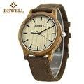 Bewell madera reloj hombre de lona ocasional banda mens relojes superior marca de lujo relogio masculino Para La Venta Con cajas De regalo de Papel 134A