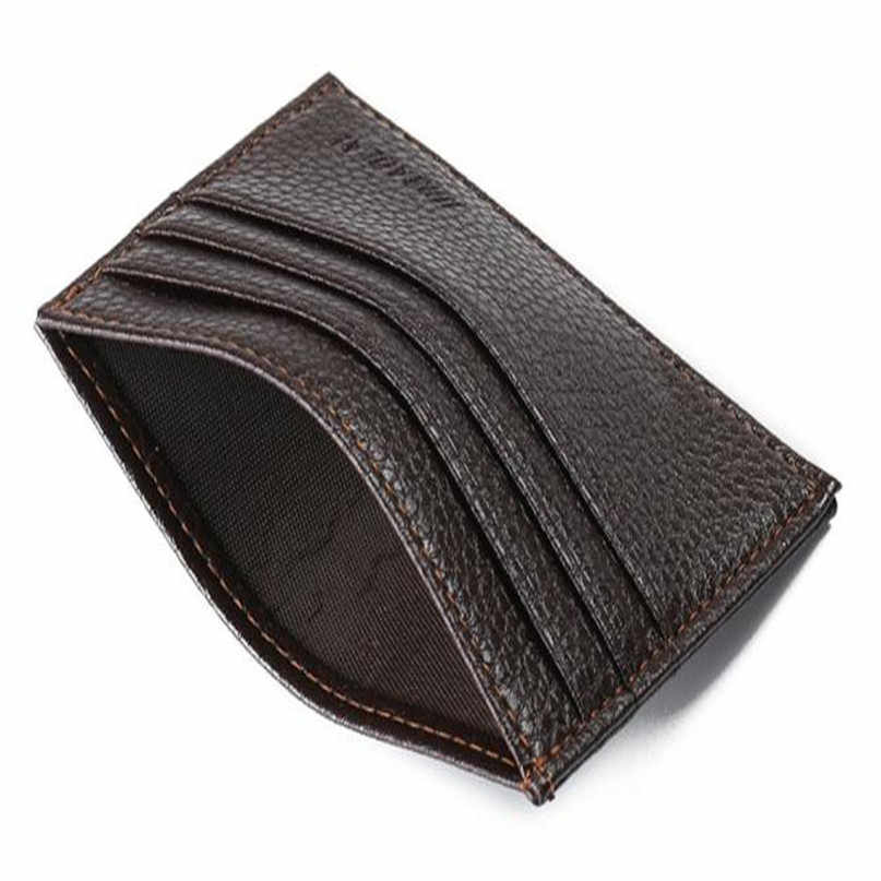 Maison Fabre Money Clip Fashion Retro Men Leather Wallet Men Clutch Billfold Wallet For Credit Cards Credit ID Card Slim Purse