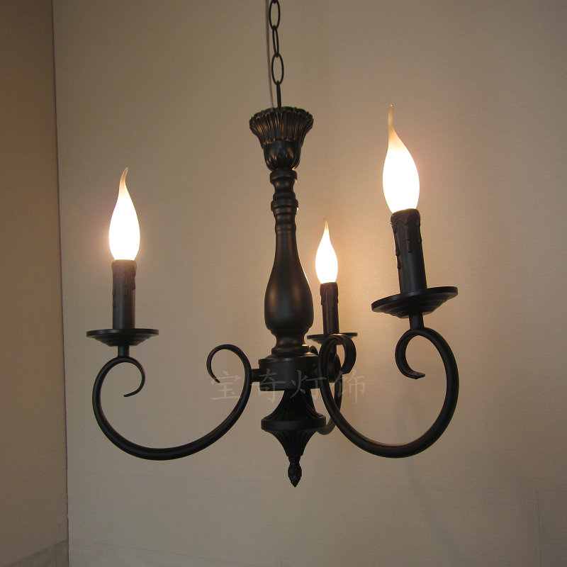 EMS FREE SHIPPING Lamp wrought iron candle lamp pendant light fashion brief bar counter lamp dining lamp
