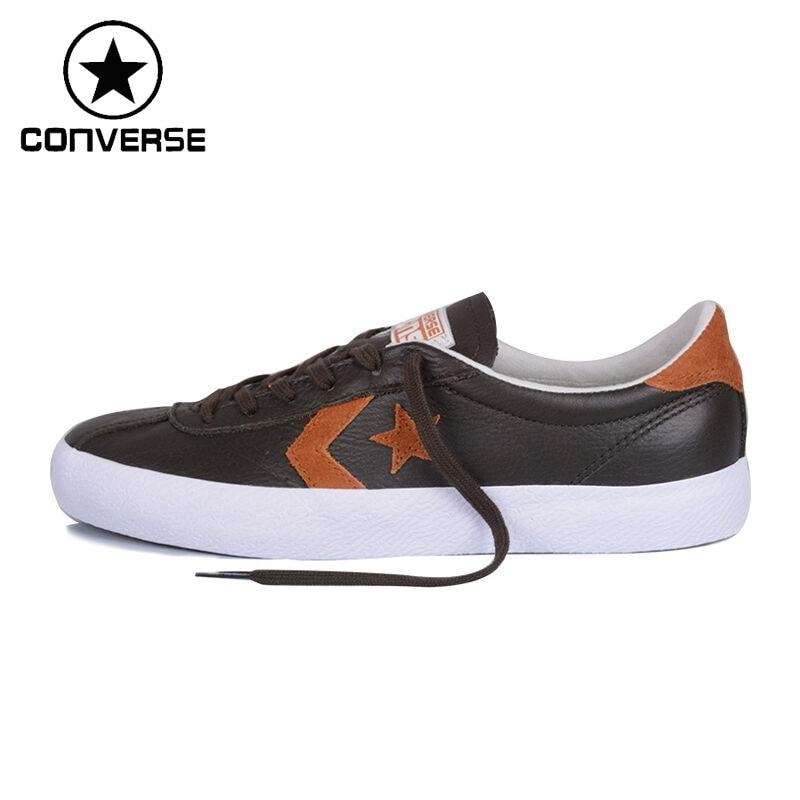 Prix pour Original Nouvelle Arrivée Converse Star Lecteur Unisexe Planche À Roulettes Chaussures en cuir Sneakers
