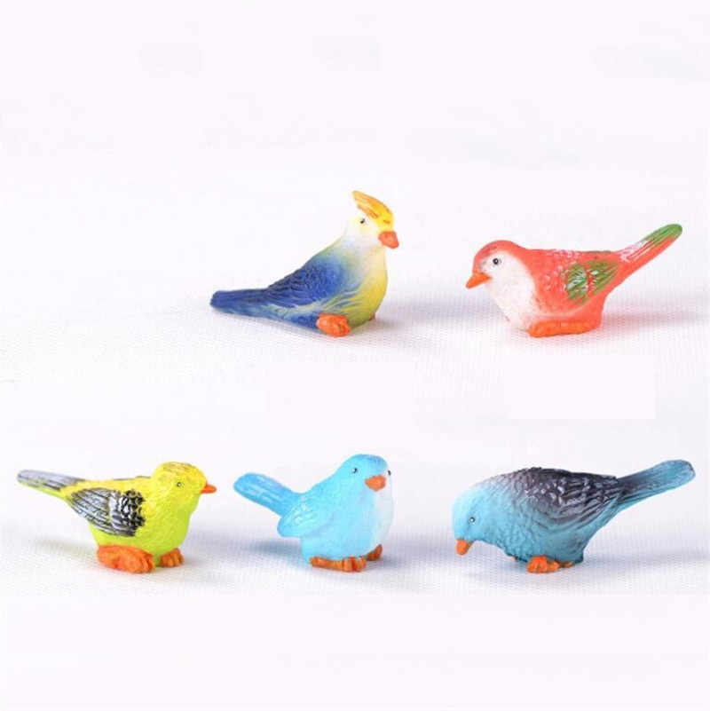 Creative mini resin bird gardening small animal succulent plant decoration home meat gift ornaments DIY fairy garden accessories