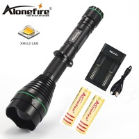 AloneFire X480 Powerful Flashlight CREE XM L2 led Bulb Focusable Zooming Flashlight Torch Camping Led Lamp Light