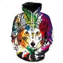 2019 New Fashion queen fox Hoodie Women/men Printed  3d Sweatshirt Outerwear Basicswear Graphic Hoodies цена и фото