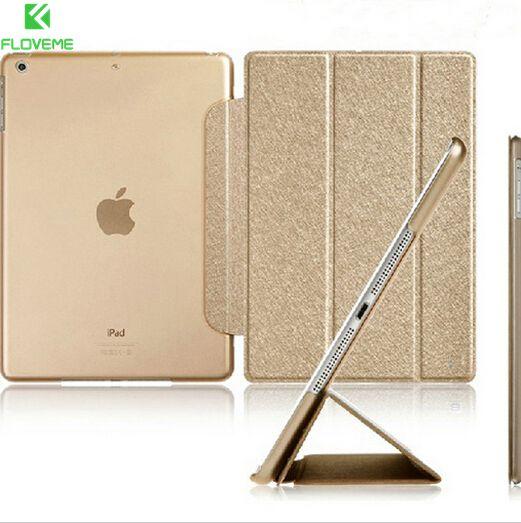FLOVEME Luxury Stand Leather Case For iPad mini 1 2 3 4 Retina Slim Clear Transparent Smart Back Cover for Apple iPad Mini 4 3