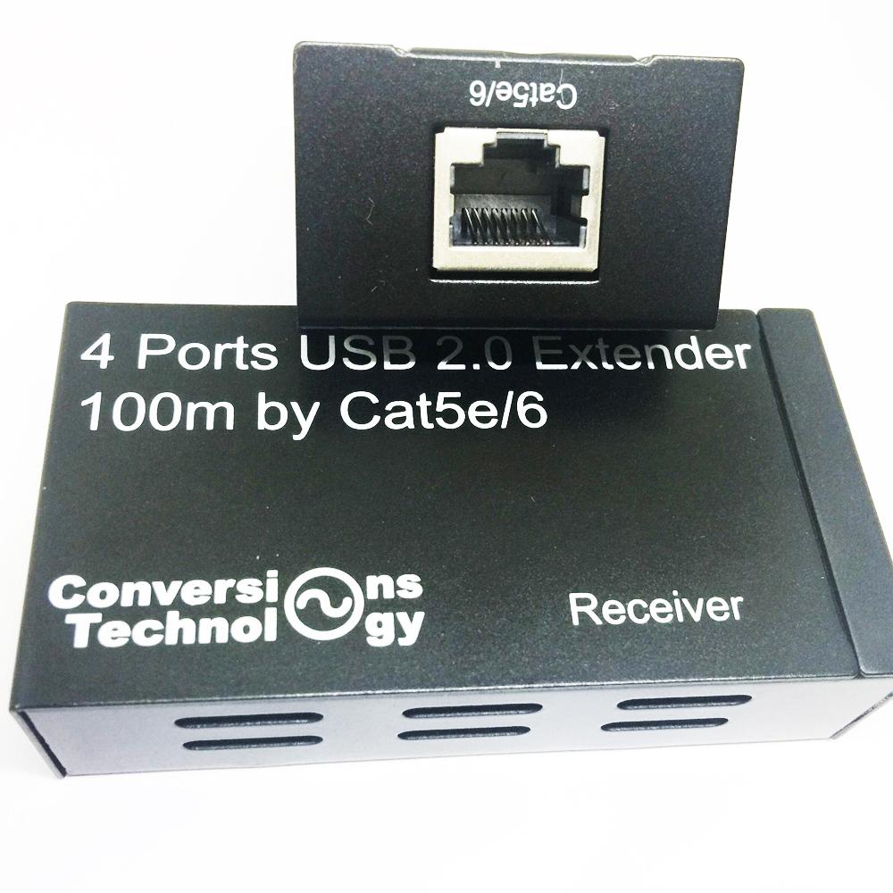Prix pour Active 4-port USB 2.0 extender jusqu'à 100 M par simple cat5e/6 câble avec power adapter