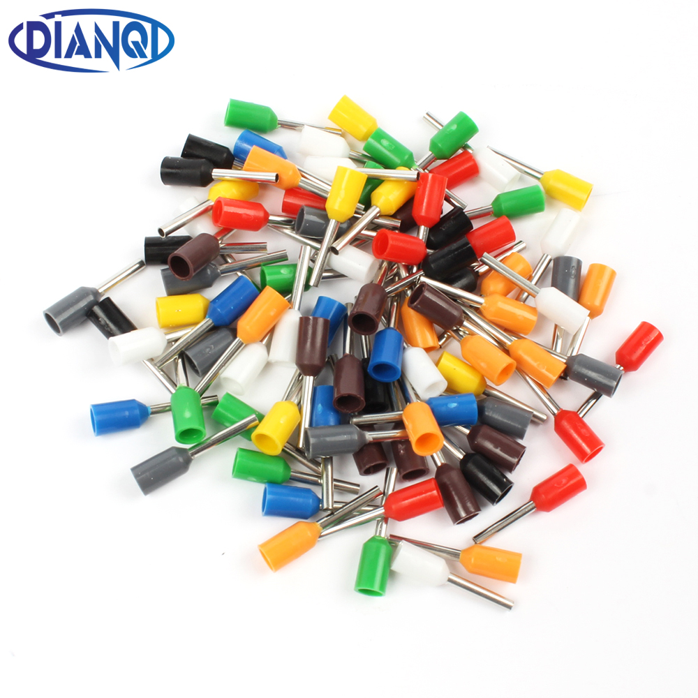 DIANQI E0508 Tube insulating Insulated terminals 0.5MM2 Cable Wire Connector Insulating Crimp Terminal 100PCS/Pack Connector E- e1008 tube insulating insulated terminals 100pcs pack 1mm2 cable wire connector insulating crimp terminal connector e