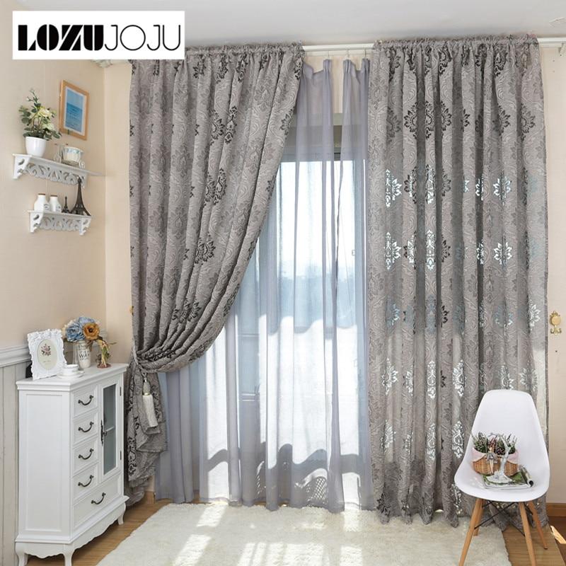 LOZUJOJU European Style Luxury Jacquard Fashion Design 3D Curtains For Living Room