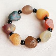 Natural Alashan Bracelet Colored Agate Stone Handmade Stones Gobi