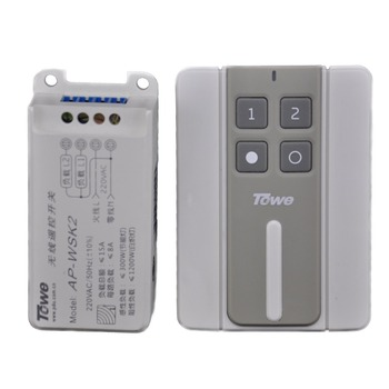 цена на TOWE AP-WSK2 ceiling lamp power wall holder 220V double way Nonwiring wireless remote control switch
