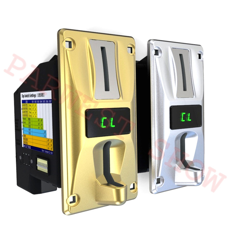 Hot Sale CL-168 Multi Coin Acceptor Sliver/Gold Plated Coin Selector Accept Multi-currency For 3 Different Values Coin Mech