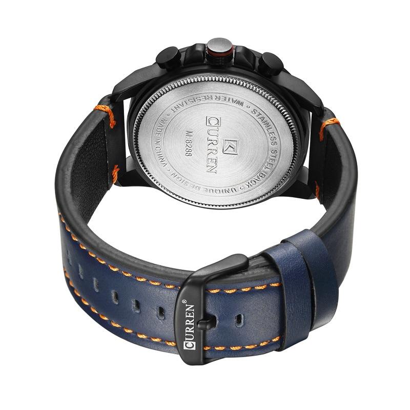 ... CURREN Chronograph Sport Man Watch Men s Watches 8288 Luxury Brand  Leather Quartz Male Wristwatch Men Montre e2ae25a87ab