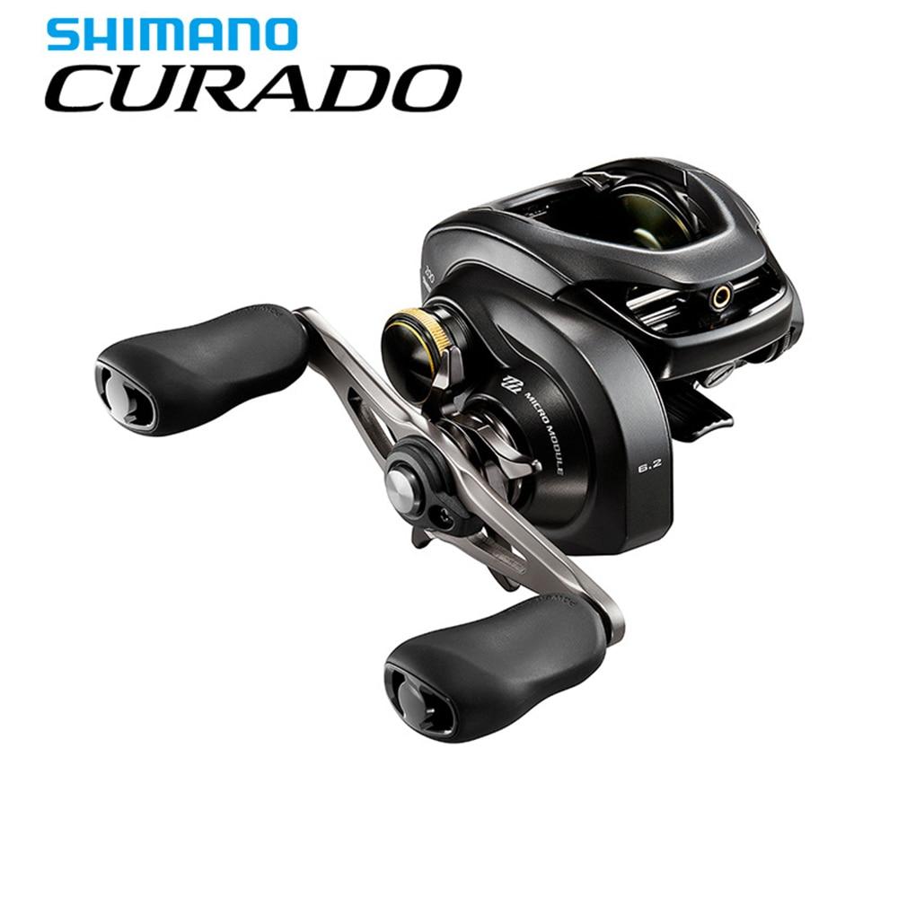 SHIMANO CURADO K fishing reel Baitcaster 6.2:1/7.4:1/8.5:1 6+1BB 5 kg Power S3D spool strength body Smooth light baitcasting curado 200hgk