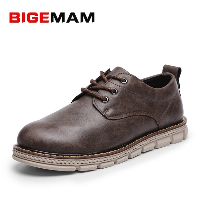 91e1bd5cf63 Best quality fashion brand western style mens casual Shoes hand-made safety  shoe man wide toe work shoes big-head shoes