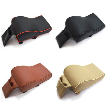 AUTOYOUTH PU Leather Car Armrest Pad Memory Foam Universal Auto Armrests Covers with Phone Pocket for VW/BMW/AUDI/Honda 1