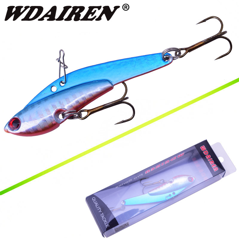 WDAIREN 1Pcs fishing lures sinking spoon vib lure 7.5cm/25g metal baits hard fishing lure spinnerbait fishing tackle WD-226 30pcs set fishing lures kits anti beat metal fishing lure colorful crankbaits tackle de pesca hard spoon baits fake baits