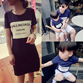 Family matching clothing set father and son summer short sleeve T shirt mother dress matching outfits family look sets