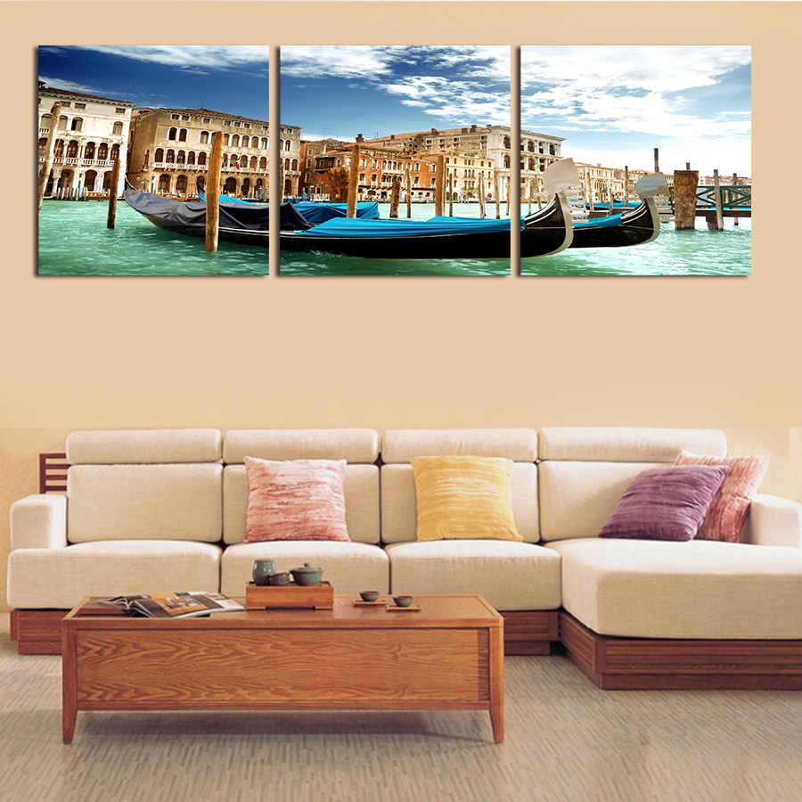 3pc Set No Frame Large Seaview Canvas Oil Painting Cheap Price Wall Art Picture Home Decor