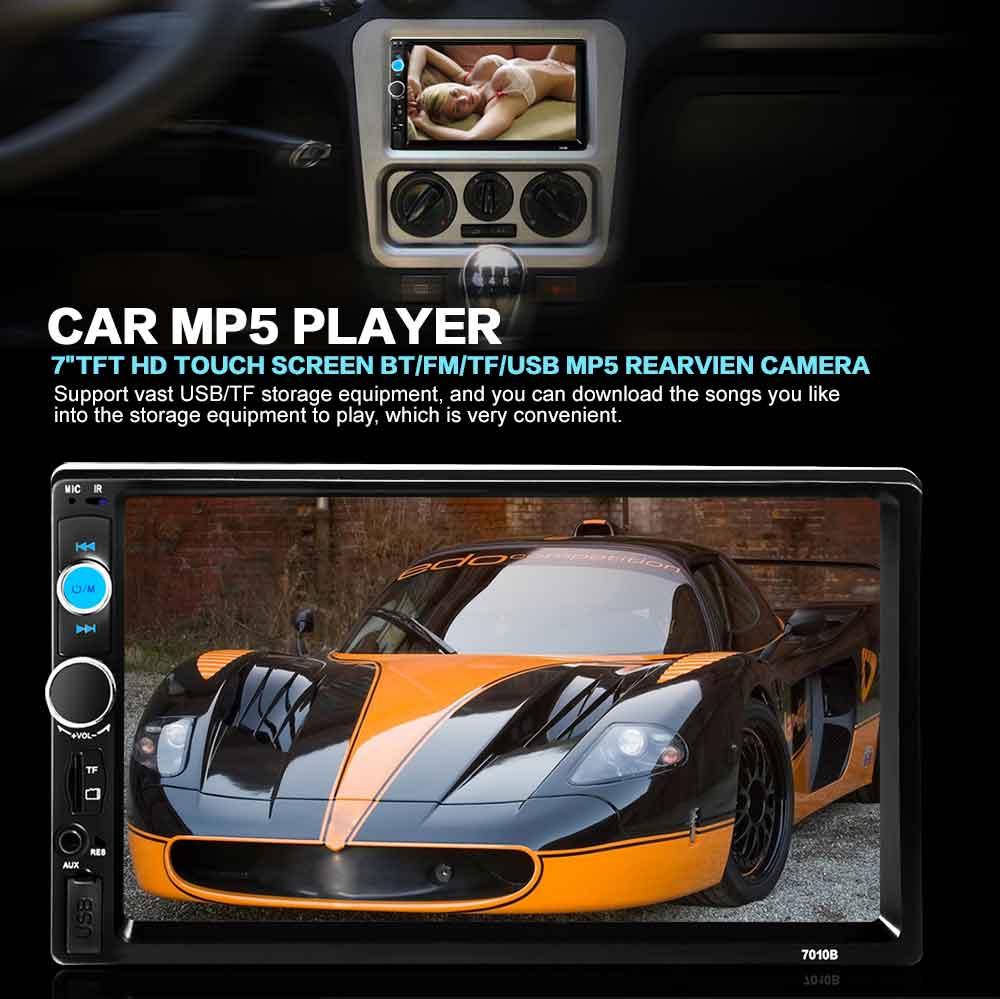 imágenes para Universal 2 DIN Pantalla Táctil de Coches Reproductor de Vídeo HD de Coches Reproductor de Radio FM Bluetooth AUX USB Doble DIN Car Multimedia jugador