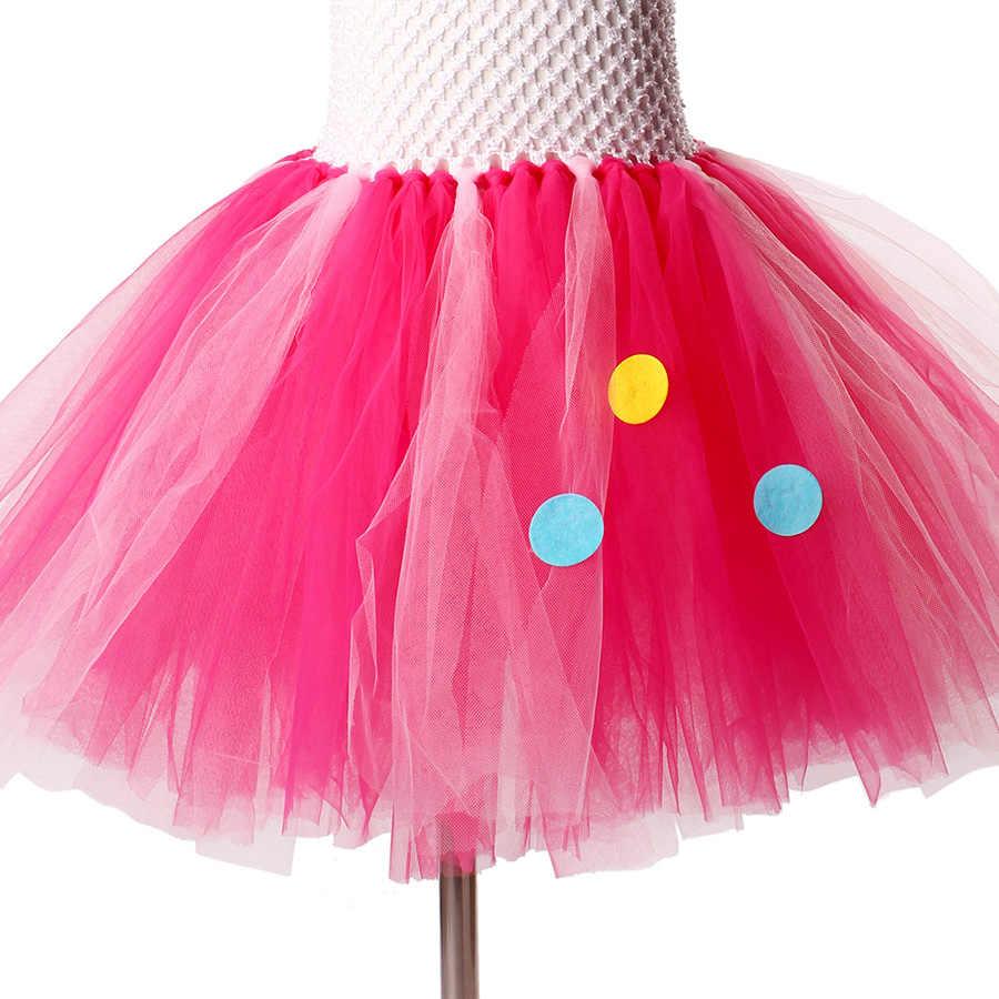 Vestido de tutú del arco iris de las muchachas con la diadema del unicornio vestido de fiesta de la princesa de los niños de Halloween de Navidad disfraz del caballo