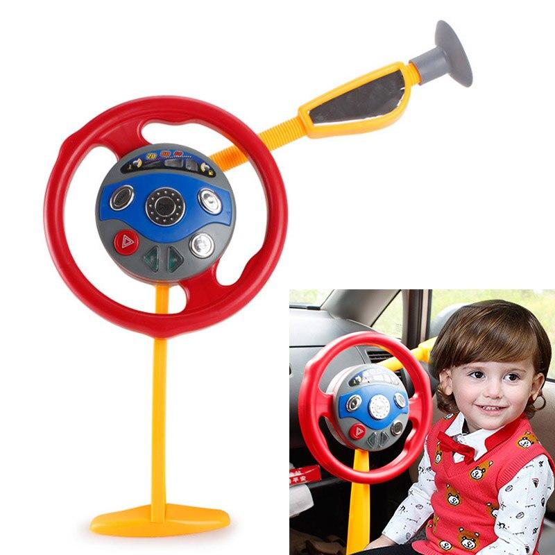 Clásico juguete pretend play juego juguete electrónico volante conductor asiento