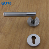 5Sets Door Handle Stainless Steel Commercial Tube Door Lever Handles On Rose Polished and Satin For Wood Door