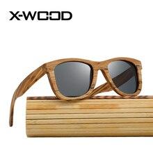 X-WOOD Fashion Retro Square Wood Polarized Sunglasses Men Women Bamboo Box Sunglass Yellow Mirror Sun Glass Oculos Amarelo