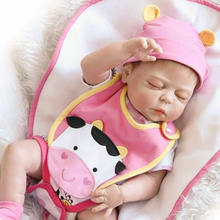 Lifelike Silicone Vinyl Girl Doll Baby Reborn 23 Inch 58 CM Realistic Sleeping Babies Dolls With Lovely Clothes Kids Playmate