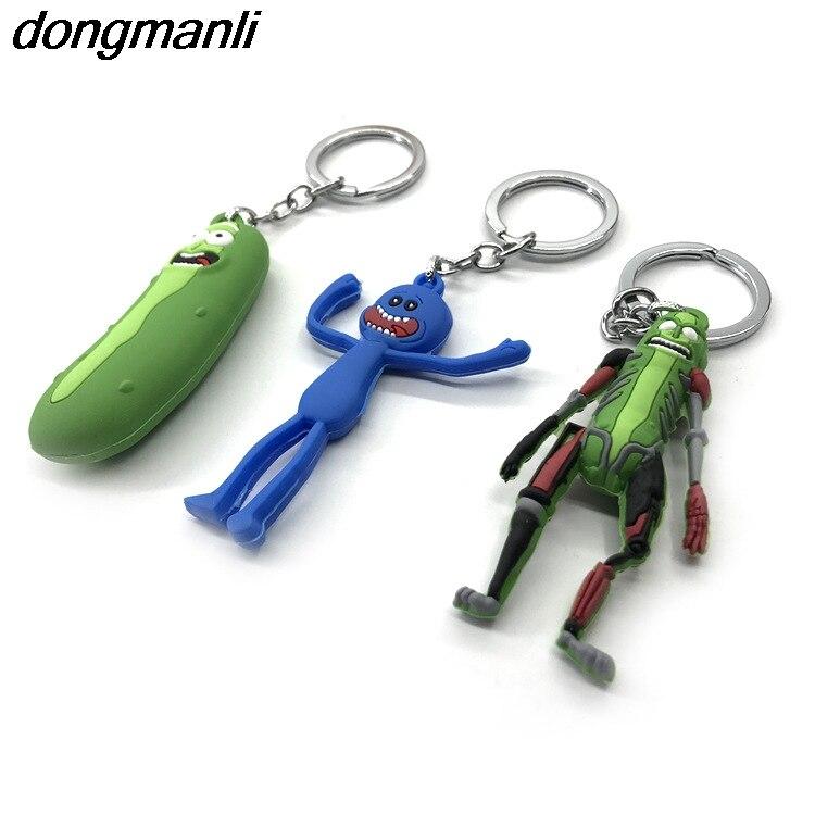 P1173 Dongmanli 20 шт./лот оптовая брелок американская драма Смешные Рик и Морти автомобильный брелок Гараж Комплект Ключ Пряжка игрушки