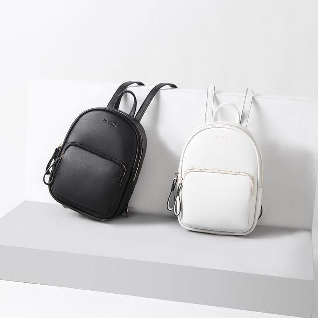 f19578fcf81a Women Waterproof Leather Mini Backpack Anti Theft Backpacks Cute Small  Bookbag Teenagers Girls School College Bag