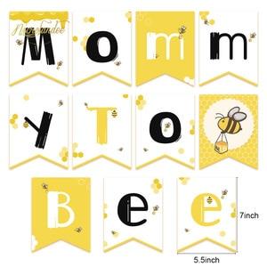 Image 2 - NICROLANDEE 35ชิ้น/เซ็ตน่ารักน่ารักHoneybee Baby Shower Mommy Beeกระดาษแบนเนอร์GarlandโคมไฟHoneycomb Partyตกแต่งDIY