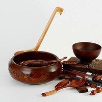 Trasporto libero di Legno Giapponese ciotola di legno giuggiola snack di frutta contro caduta e anti scottatura Tuba Bacino H7.5 * 16.5 CM