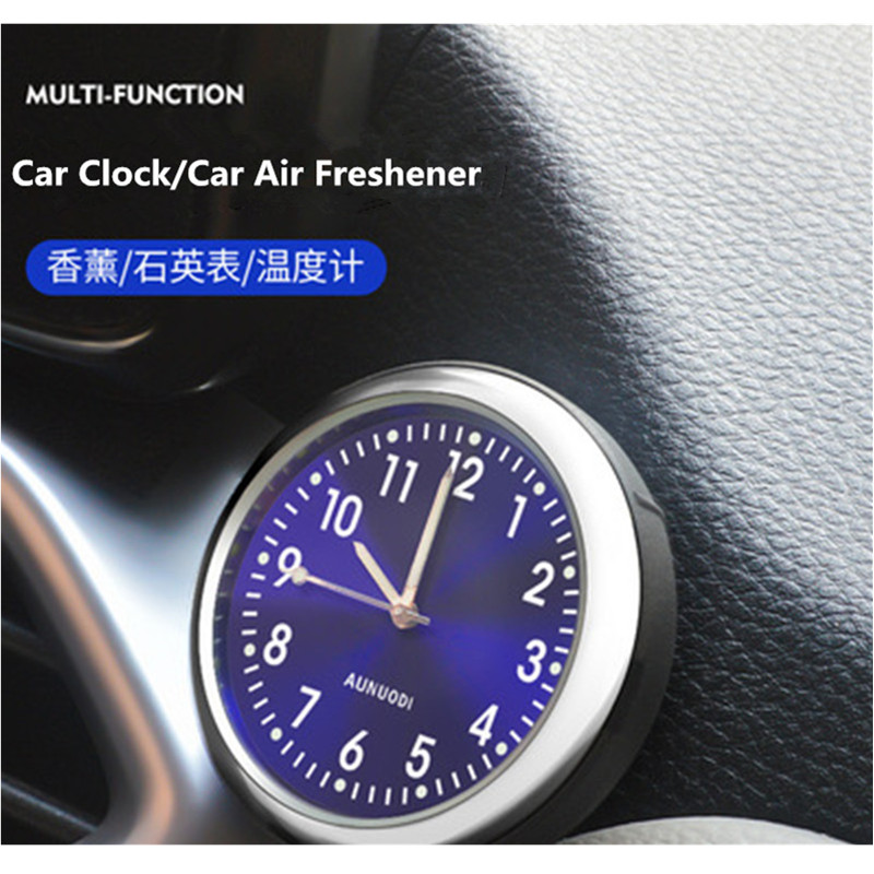 Luminous Car Clock Auto Electronic Meter Quartz Watch Thermometer Timepiece Outlet Air Freshener Auto Interior Ornament Styling