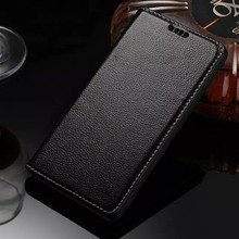 Luxury Real Genuine Leather Wallet Case For Sony Xperia Z4 / E6553 / Z3 Neo /SO-03G Flip Fashion Lichee Pattern Stand Cover Bags