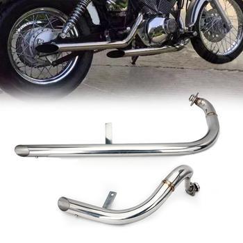 BIKINGBOY Muffler Exhaust System Pipe With Silencer Set For Yamaha XV250 XV 250 Virago / V-Star 1988-2013 88-13