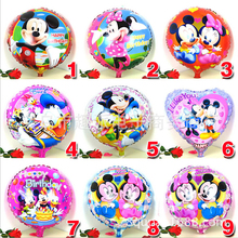 1pcs 18inch mickey minnie mouse print foil helium ballon baby shower birthday christmas party decoration balloon child kids toy