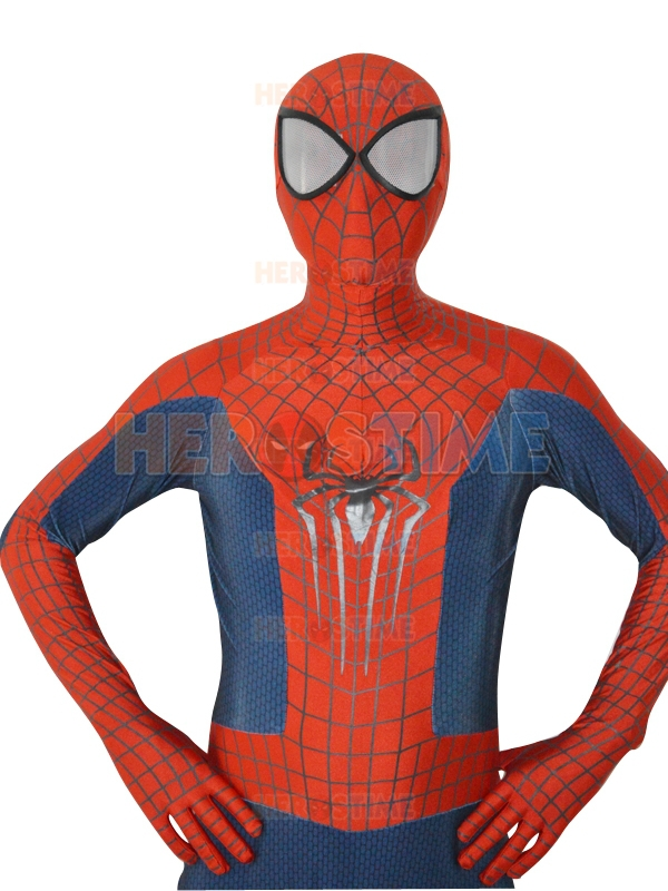 New Amazing Spider-Man 2 Costume 3D Spiderman Costume spandex fullbody superhero zentai suit Free Shipping
