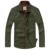 Nueva llegada slim fit camisas de algodón de los hombres camisas de manga larga del collar del soporte militar del ejército M-5XL JPYG61