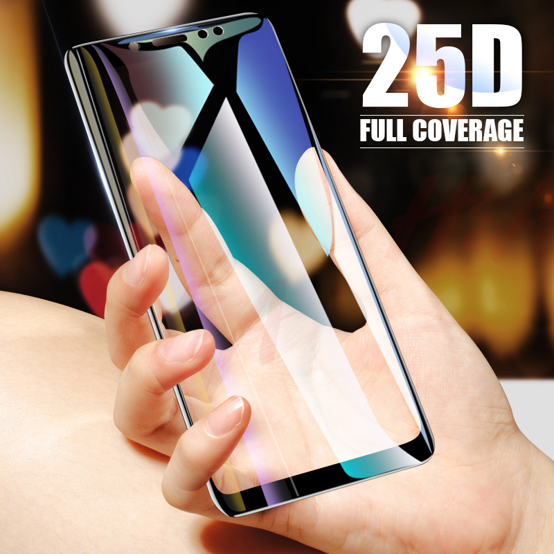 25D Curved Protective Glass on the For Samsung Galaxy A3 A5 A7 J3 J5 2017 J4 J6 A8 A6 Plus 2018 Tempered Screen Protector Glass-in Phone Screen Protectors from Cellphones & Telecommunications
