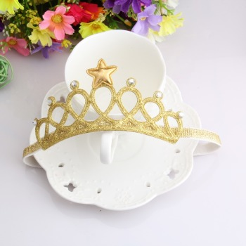 New Arrival Glittering Crown Headband Girls Hair Band New Head Wrape Hair Accessories Princess Tiara Headband