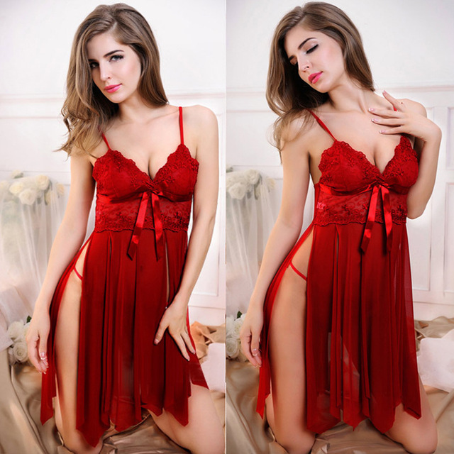2018 Sexy Lingerie Women Fashion Hot Erotic Lace Negligee SM Exotic Apparel Porn Sex Clothes Baby Doll Nightgown Sleepwear