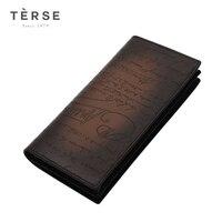 Лаконичный Для мужчин длинный кошелек из натуральной кожи Клатчи с более карманы для карт модные Винтаж бумажник для мужчин DT0719 1 и DT0412 1