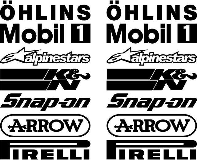 Mobil Styling Untuk 14 X Perut Pan Sponsor Logo Dalam 150mm Warna ...