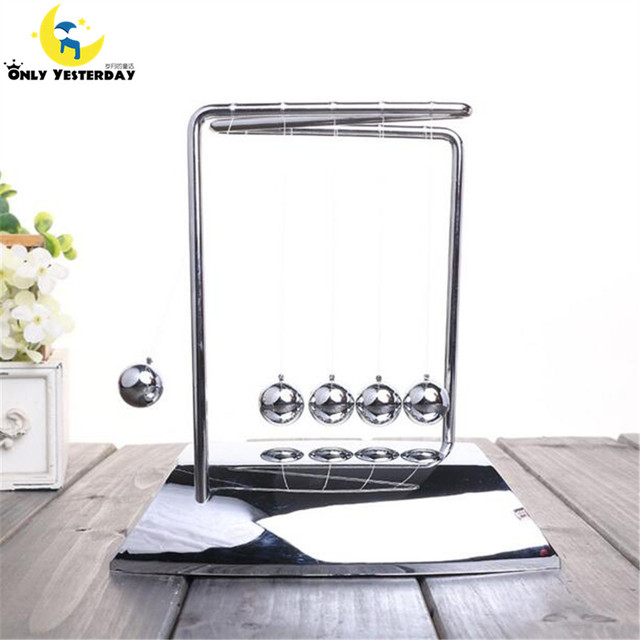 Newton Cradle Steel Ball Physic School Educational Supplies teaching Science Desk toys Christmas gift for children;NC-N-ABS