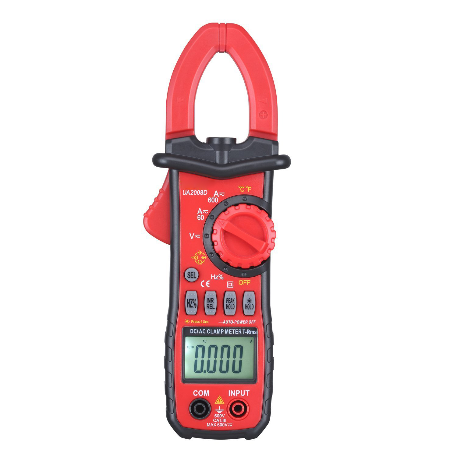 CSS UYIGAO 600A AC Clamp Meter Digital Multimeter with Resistance, Capacitance Voltage, Current, Diode and Continuity Testing