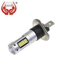KEIN 2 sztuk H1 led żarówka przeciwmgielna żarówka samochodowa 30smd 4014 światła samochodowe do jazdy dziennej biały samochód 12V auto pojazdu lampy zewnętrzne dzień jazdy