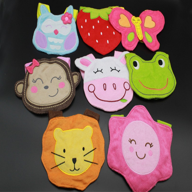 12 Different Kinds Baby Cotton Bibs Cute Animal Waterproof Infant Kids Burps Boys Girls Slobber Feeding Care Baby Products