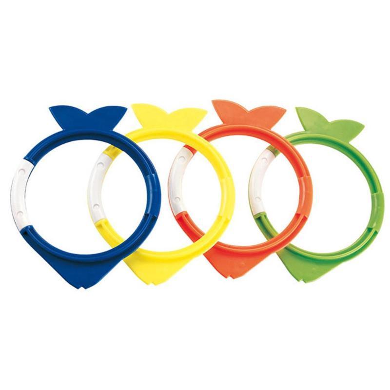 4pcs/Set Cute Fish Swimming Pool Dive Grab Toys Teaching Training Aids Kid learning swim training accessory for kids Fun Play