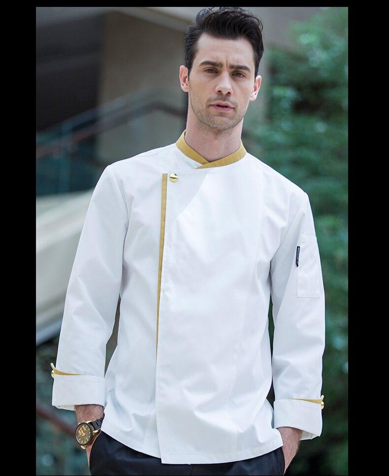 Chaud unisexe service alimentaire vêtements chef uniforme veste restaurant hôtel travail porter à manches longues respirant lavable confortable